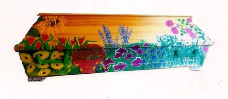 Sargbemalung Blumen rechte Seite