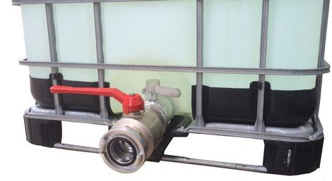 """Aluminium Adapter für IBC-Container S60x6 zu 1"""" Innengewinde"""