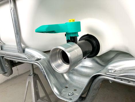 """Aluminium Adapter für IBC-Container S60x6 zu 2"""" Innengewinde"""