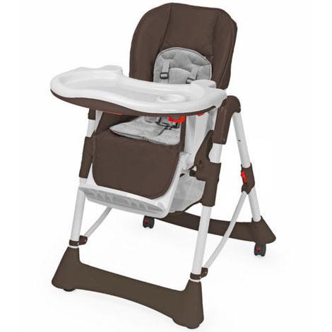 Chaise Haute Bébé / Enfant en Marron