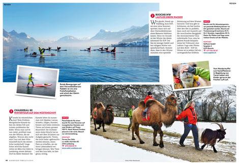 Stand Up Paddling im Winter, möglich im SUPoint in Buochs. Bericht in der Schweizer Familie.