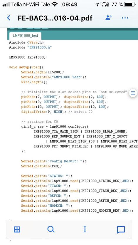 Arduino code for Biosensors - zimmerandpeacock