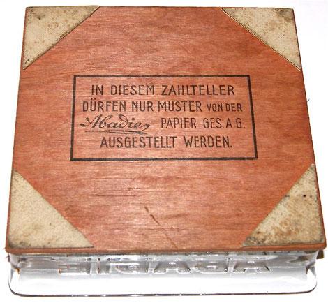 Abadie Cigaretten Zahlteller Rückseite