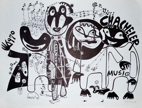 1970 Litho von Ruth Margraf