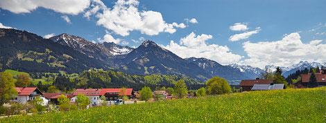 vom Rubihorn bis zu den Oberstdorfer Bergen