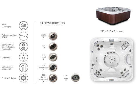 S&K GmbH Jacuzzi Whirlpool - J345 Premium