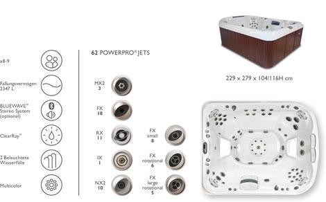 S&K GmbH Jacuzzi Whirlpool - J495 Premium