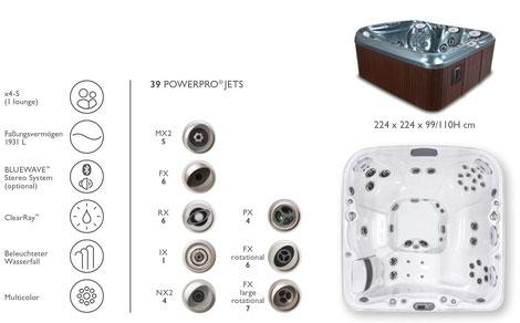 S&K GmbH Jacuzzi Whirlpool - J465 Premium