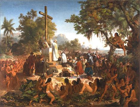 Primera misa en Brasil.