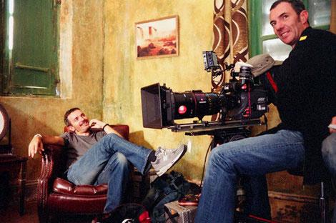 Jérôme Salle et Denis Rouden à la caméra sur le tournage de Largo Winch