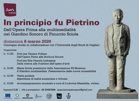 """Locandina Convegno-studio """"In principio fu Pietrino""""_Pinuccio Sciola_Fondazione Sciola"""