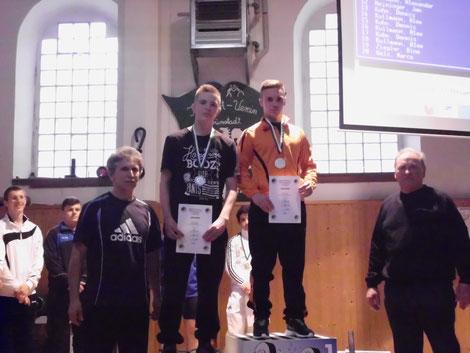 Siegerehrung Marius Best und Robin Pohl
