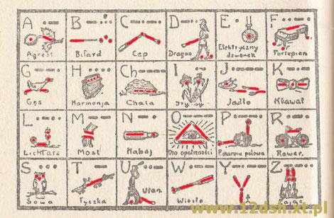 Graficzny alfabet Morse'a