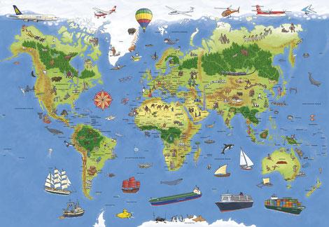 Weltkarte, 2013