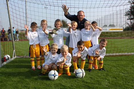die Gründungsmitglieder der Mannschaften 2003 - Turnier am 27.09.2009
