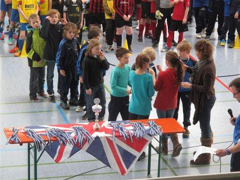 Siegerehrung Hallenturnier Mortimer Cup 2013