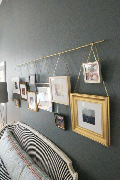 Picture Rail DIY by Little Green Notebook