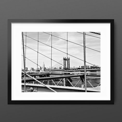 Photographic Art Print 'Bridges of New York, by PASiNGA