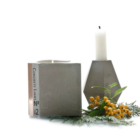 Concrete Candle Holders by PASiNGA