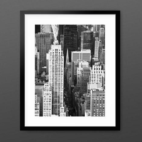 Photographic Art Print 'Big Streets' of New York by PASiNGA