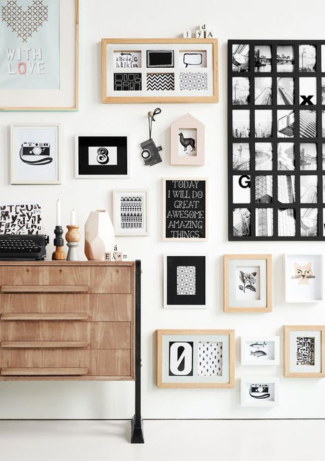Gallery Wall Inspiration, collected by PASiNGA