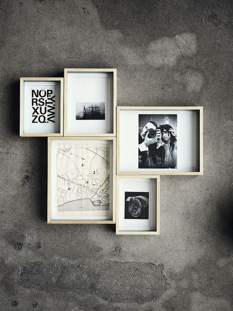 Gallery Wall Inspiration Box Frames, collected by PASiNGA