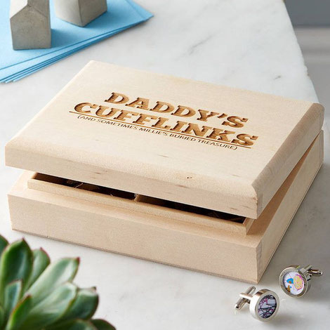 Personalised Wooden Cufflink Box by Sophia Victoria Joy, Mini Concree Houses by PASiNGA