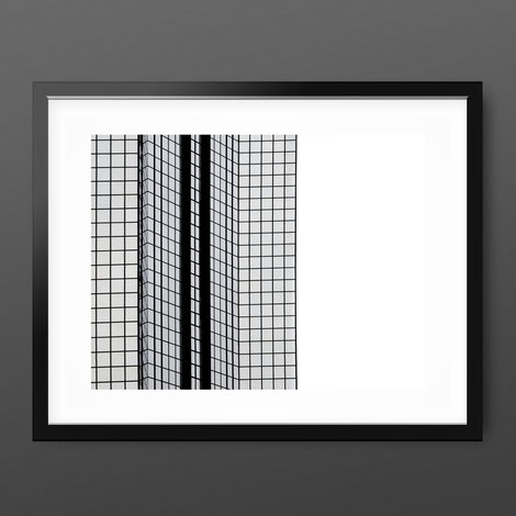 Black and White Art Print 'Squares' by PASiNGA