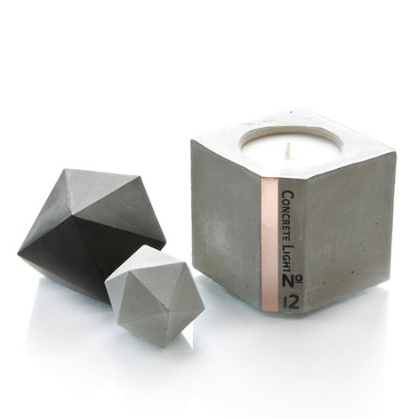 Concrete Light, chocolate candle by PASiNGA and Ville De Fleurs