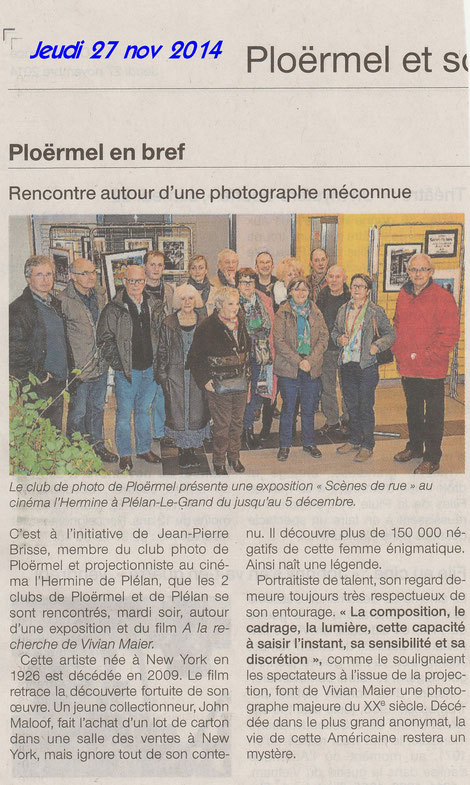 Rencontre entre les clubs photo de Plo et Plélan