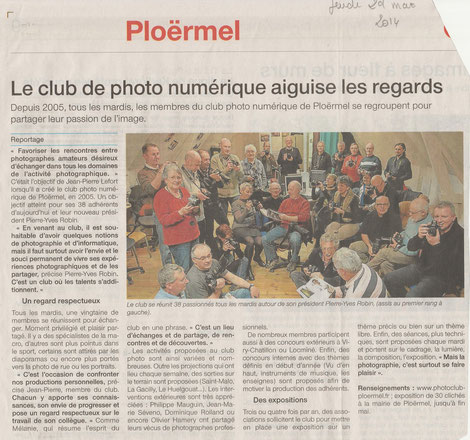 Le club de photo vu par la presse