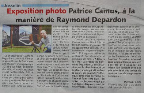 Expo de Patrice à Josselin