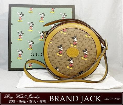 グッチ ディズニー ラウンドショルダーバッグ 603938 ミッキーマウスを仙台で高額買取