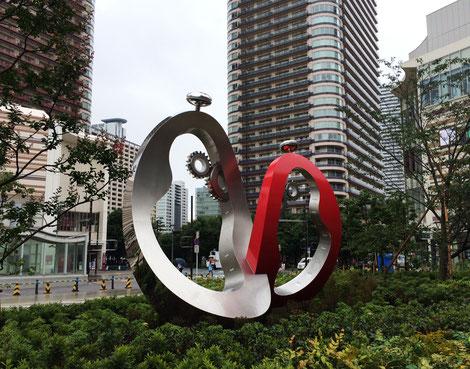 私、鈴木尚和がデザインしました武蔵小杉東口駅前モニュメントの完成記念式典