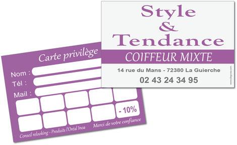 Cartes privilège Style et tendance