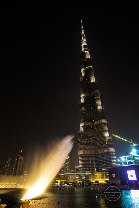 Wasserspiele Burj Khalifa Dubai Mall Downtown Vereinigte Arabische Emirate