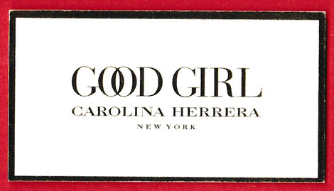 CAROLINA HERRERA : GOOD GIRL - ECRITURE DOREE : RECTO