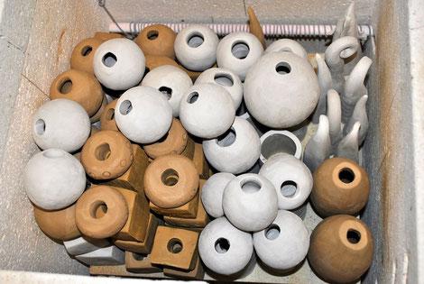 Keramik im Töpferofen