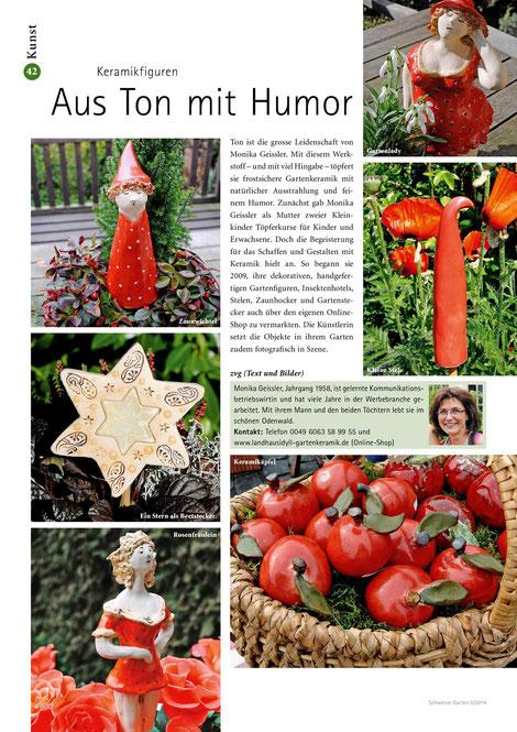 Keramikfiguren Veröffentlichung in der Schweiz