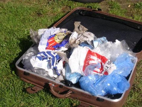 Das Ergebnis nach einer Stunde Müllsammeln am Strand
