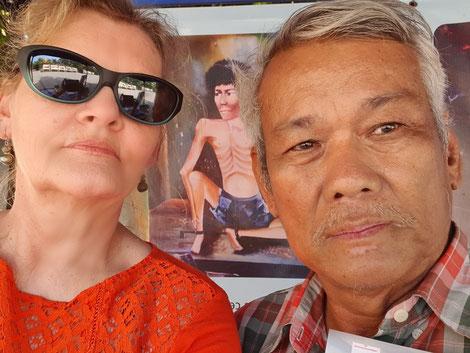 Sum Riethy und ich in den Killing Fields in Siem Reap, Kambodscha
