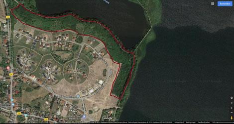 Satellitenbild Zarrentin, Schutzwald und Schaalsee