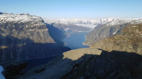Panoramablick Fjord Norwegen