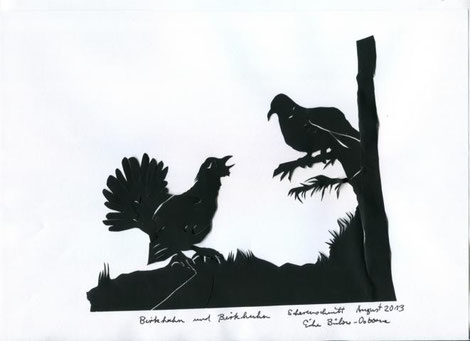 Birkhuhn und Auerhahn