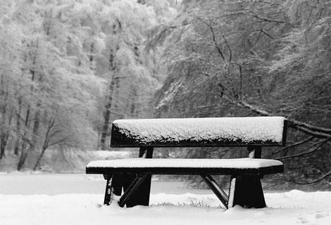 Bank m Schnee