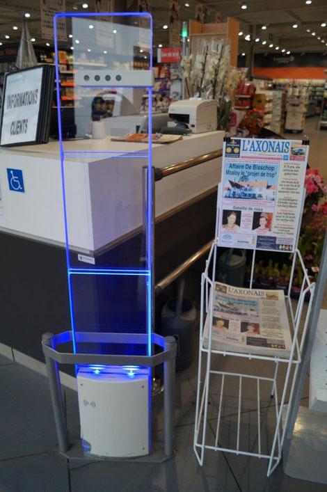E. Leclerc Express Dormans. L'Axonais est en vente à l'entrée du magasin.
