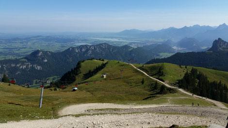 Breitenberg, Blick Richtung Weissensee, Forggensee