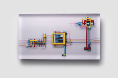 Sweet childhood | glued, polished glass, acrylic paint | 34 x 60 x 7 cm | 2021
