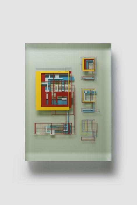 Natural Studies II. | glued, polished glass, acrylic paint | 55 x 40 x 7 cm | 2021