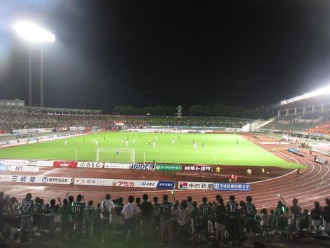 2017/8/11 FC岐阜 vs ファジアーノ岡山 岐阜メモリアルセンター長良川競技場
